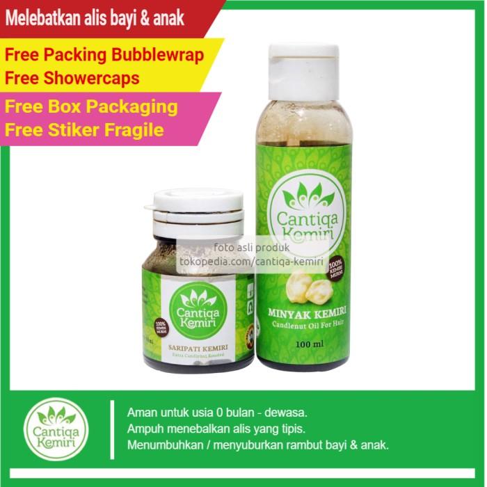 jual minyak kemiri untuk melebatkan & menghitamkan alis bayi Minyak Dan Saripati Cantiqa Kemiri