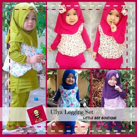 Jual Baju Busana Muslim Anak Perempuan I Gaun Muslim Anak Balita I