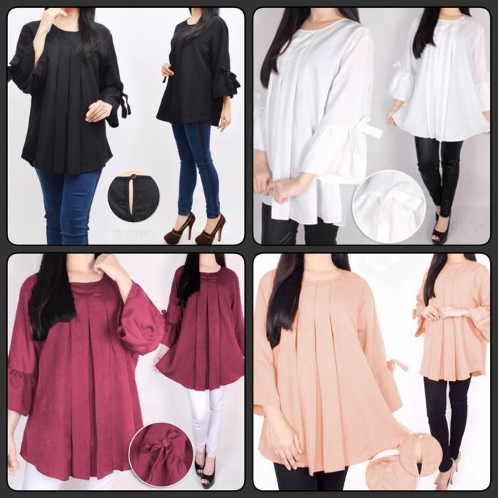 harga Baju blouse size xxl ukuran jumbo besar wanita karier kerja ibu hamil Tokopedia.com