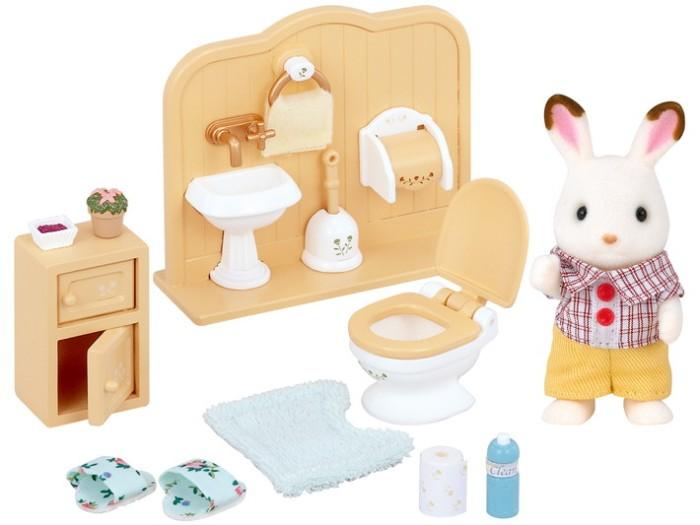 harga Sylvanian families chocolate rabbit brother set (washroom) Tokopedia.com