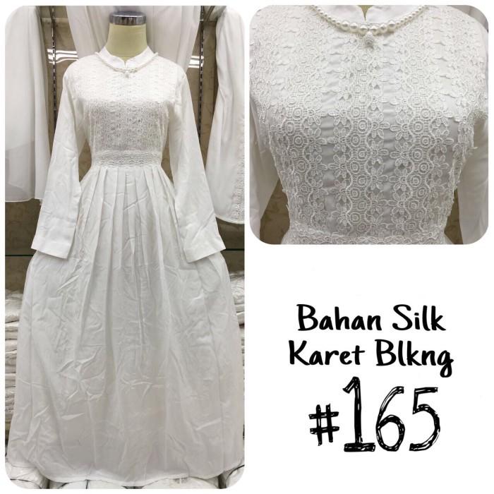 harga Baju gamis putih / busana muslim / baju muslim wanita #165 std Tokopedia.com