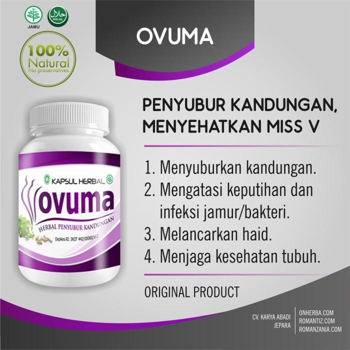 Obat Herbal Kewanitaan - Ovuma - Penyubur Kandungan - Original