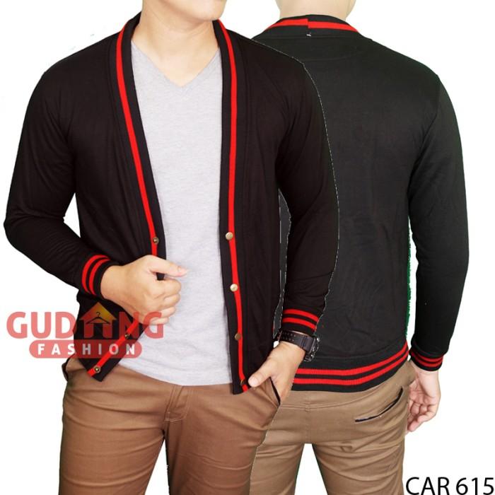harga Cardigan Fleece Hitam Basic Polos Panjang Pria Car 615 Tokopedia.com