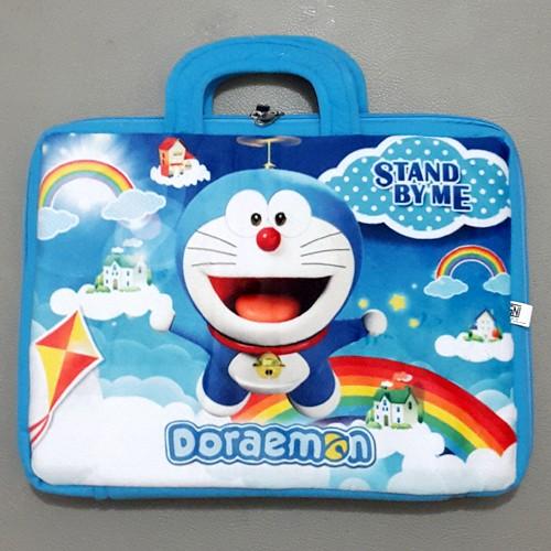 harga Dr09 tas laptop bulu notebook 14   in inch doraemon biru muda Tokopedia.com