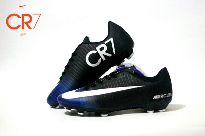 4d69560ea48 Jual sepatu bola dewasa nike cr7 original premium black blue 39-44 ...