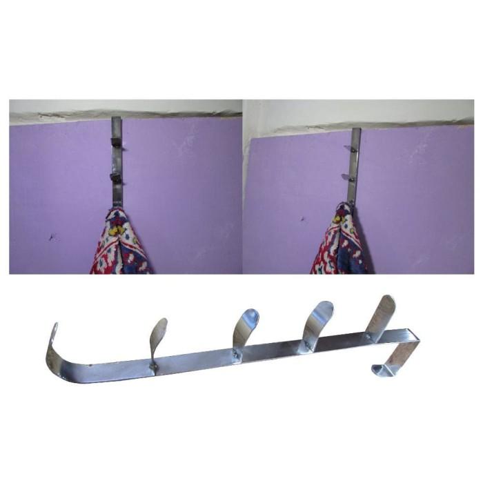 harga Stainless steel hook hanger gantungan baju di belakang pintu Tokopedia.com