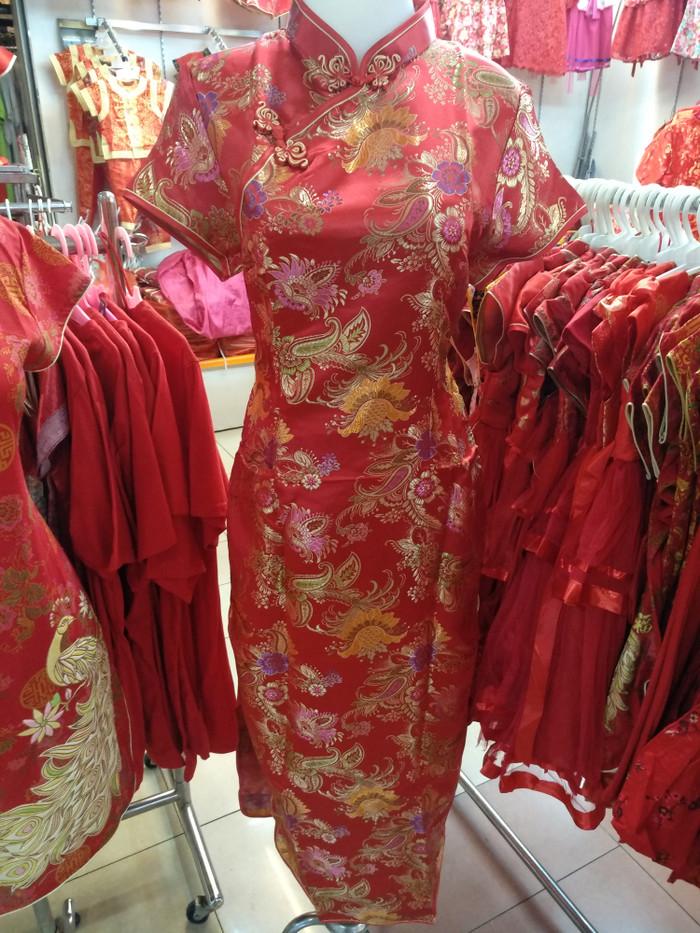 harga Long Dress Cheongsam Shanghai Imlek Tokopedia.com