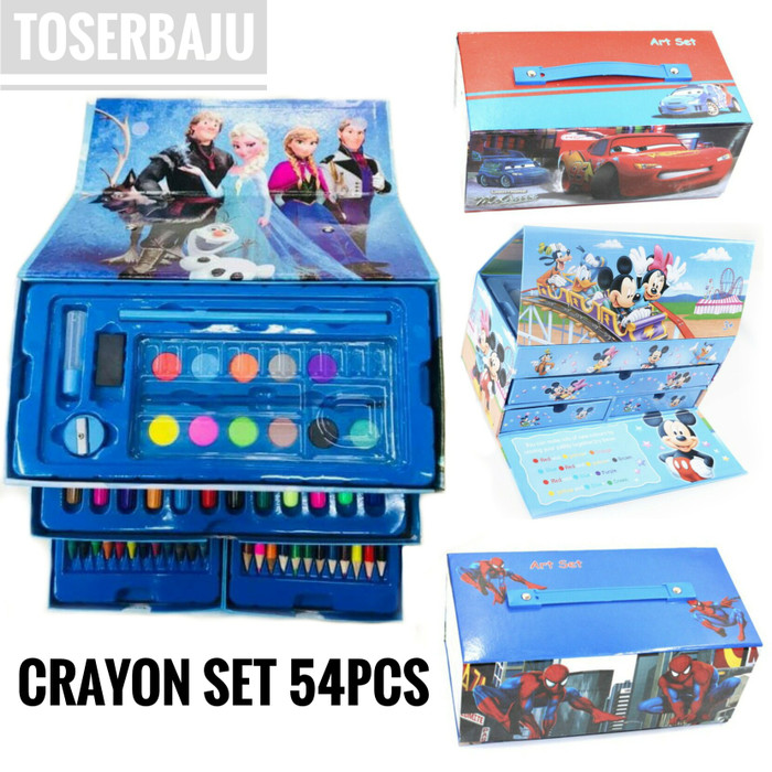 Jual Must Have Crayon Set Terlengkap Untuk Mewarnai Dan Menggambar