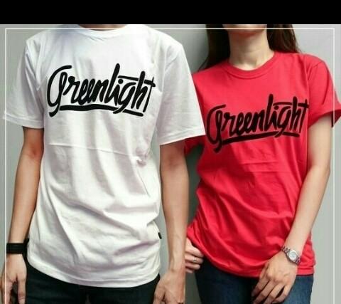t-shirt/baju couple/greenlight