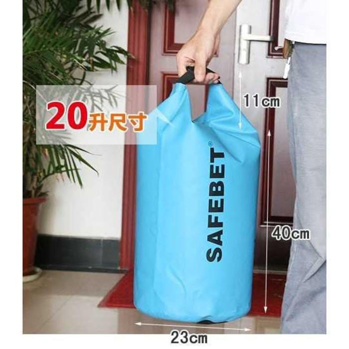 Safebet Tas Hujan Anti Air Drybag Waterproof Dry Bag 20 Liter - Hijau