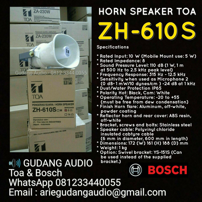 harga Horn speaker toa zh-610 s Tokopedia.com