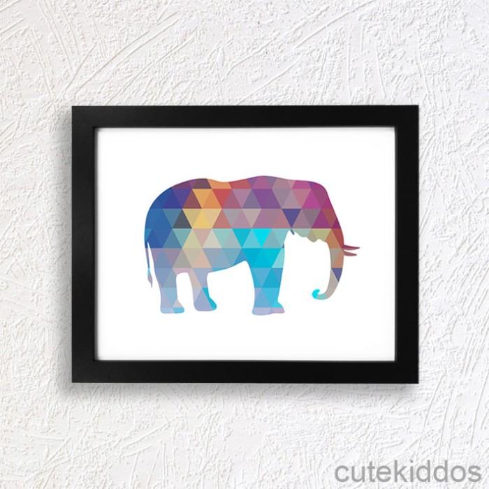 harga Poster fauna / geometris gajah / hiasan dinding / pajangan dinding Tokopedia.com