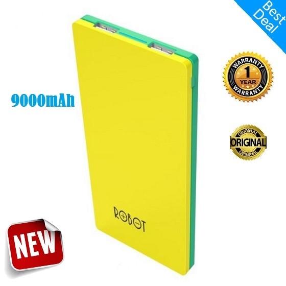 Foto Produk ROBOT Powerbank RT9100 9000mAh -Yellow Green- By Vivan Original  dari limo selikur