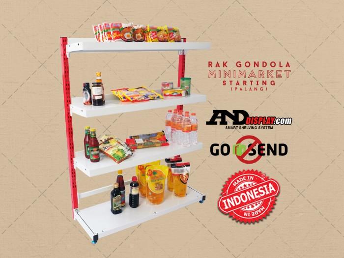 harga Rak minimarket t. 120 cm - supermarket - gondola - swalayan - toko Tokopedia.com