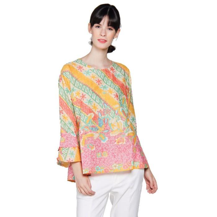 harga Blus atasan wanita motif batik lereng bunga pink Tokopedia.com