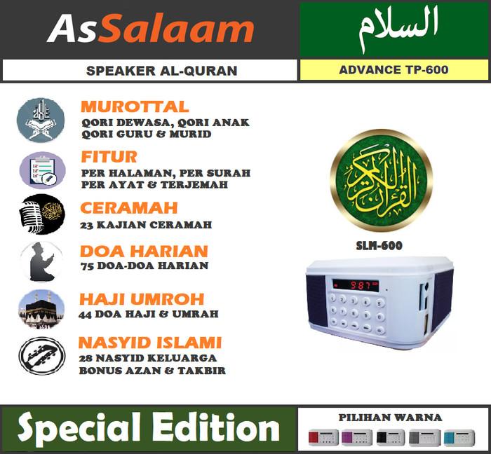 harga Speaker tp-600 murrotal al qur'an per halaman - per surah - per ayat Tokopedia.com