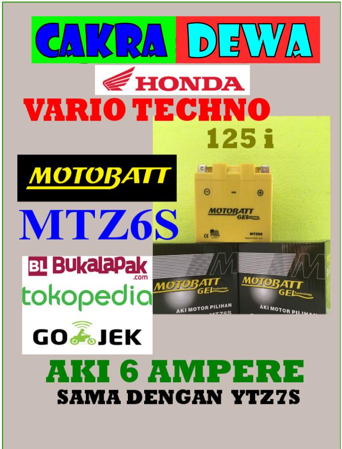 harga Aki motor honda vario techno 125 motobatt mtz6s or ytz7s aki gel kerin Tokopedia.com