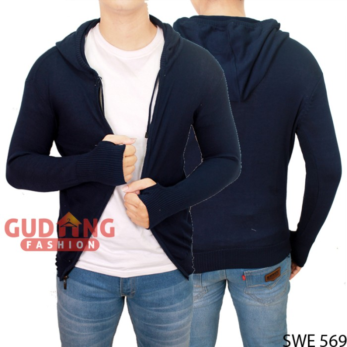 harga Long knit sweater hoodie ariel swe 569 Tokopedia.com