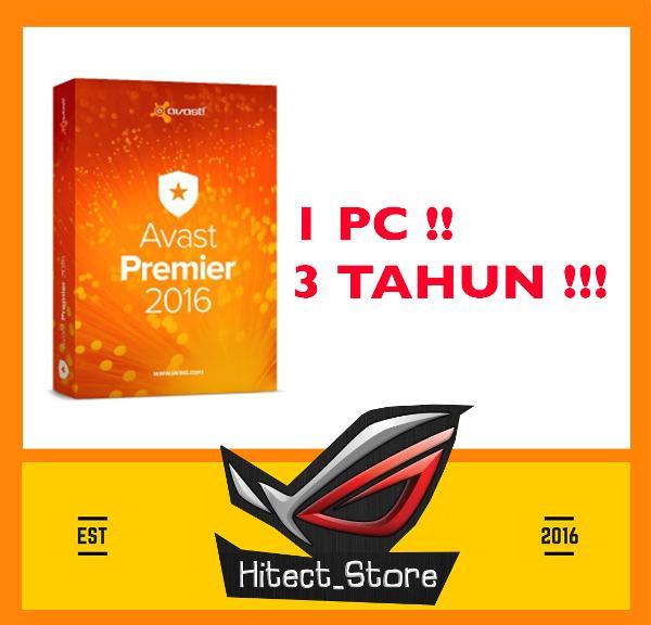 Jual PROMO Antivirus Avast Premier 1 PC 3 Tahun FREE ONGKIR HOT PRODUCT -  DKI Jakarta - Butik Modern | Tokopedia