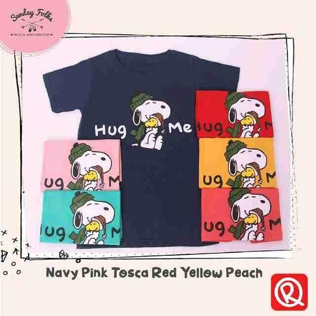 harga 5199 kaos oreenjy kaos standard tshirt remaja kaos snoopy hug me Tokopedia.com