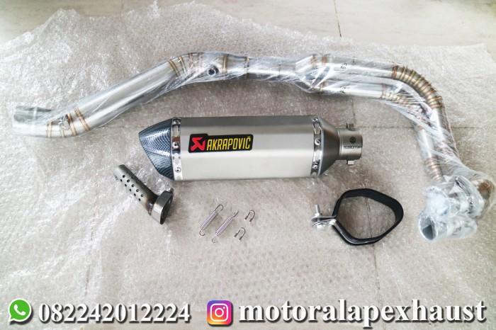 harga Knalpot akrapovic titanium import fullsystem 250fi r25 mt25 cbr250rr Tokopedia.com