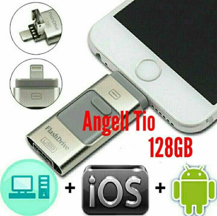 harga Flashdrive flashdisk otg iphone 3in1 128gb for all iphone pc & android Tokopedia.com