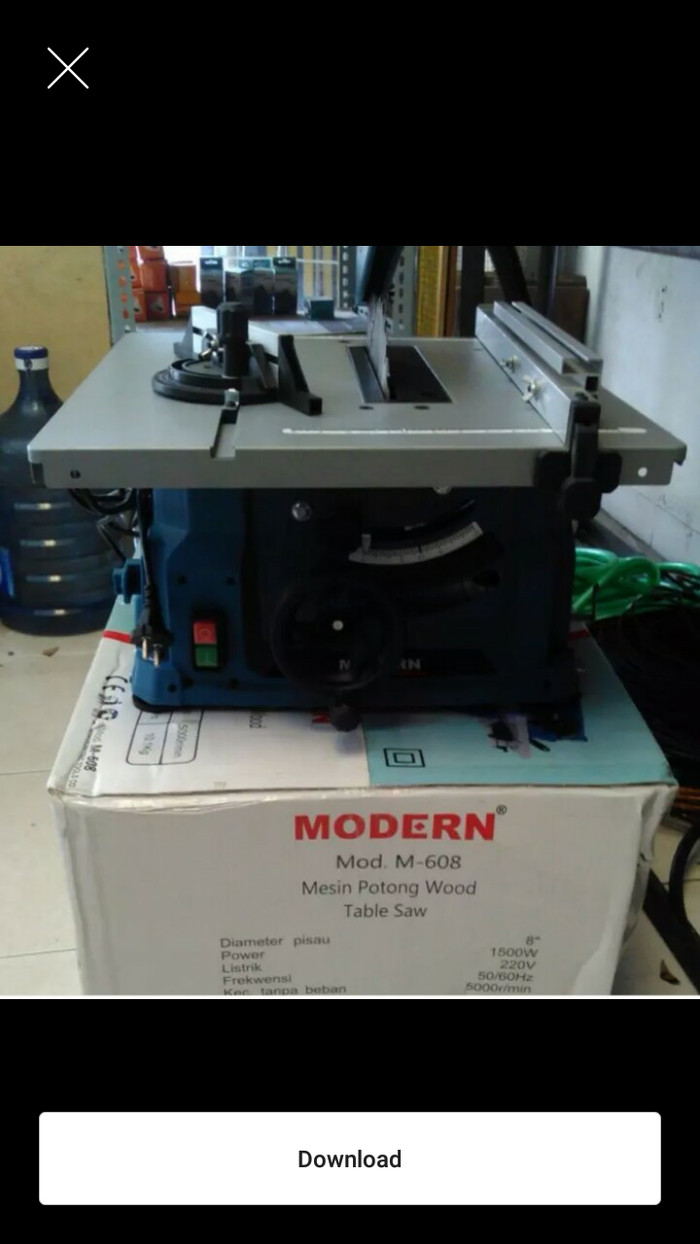 harga Table saw m-608 modern / mesin gergaji meja modern m608 200mm Tokopedia.com