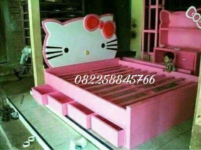 Jual Dipan Tempat Tidur Untuk Anak Model Hello Kitty Dari Kayu Jati Jepara Kab Jepara Rumah Ukir Jati Jepara Tokopedia