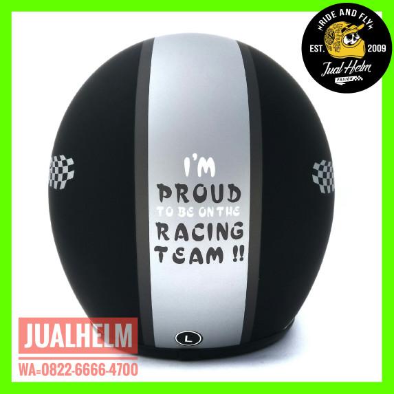 Helm Retro/Helm Classic/Helm Bogo/Helm Vespa/Helm Ava Motif Racing 1