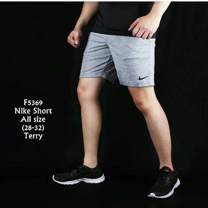 harga Ready stok hanya 12 pcs celana pendek pria abu nike sport gym Tokopedia.com