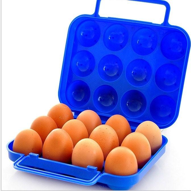 harga Tempat telur telor portable tutup plastik pegangan isi 12 biji Tokopedia.com