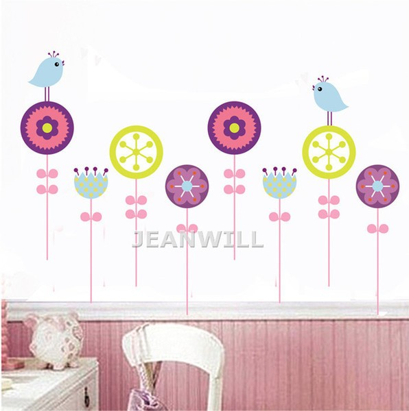 jual stiker dinding / wall sticker birds circle jm8177 bagus murah