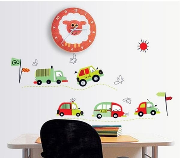 jual stiker dinding / wall sticker cartoon cars ay7012 lucu murah