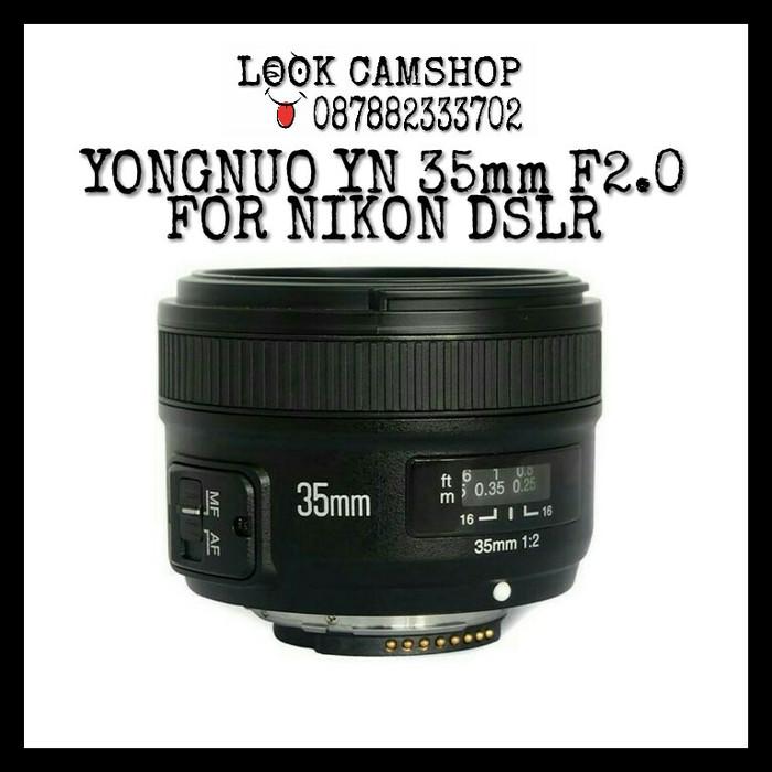 harga Lensa kamera dslr yongnuo / youngnou yn 35mm 35 f/2.0 for nikon Tokopedia.com