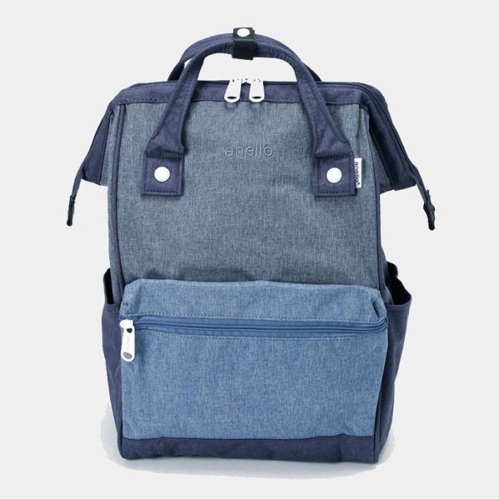 Anello mini hd polyester backpack tas ransel casual - denim multi