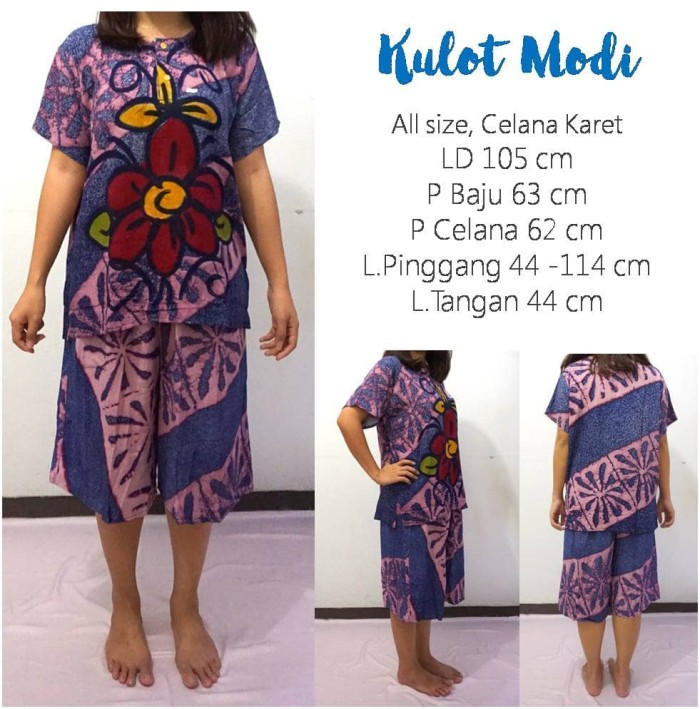harga Setelan kulot batik modi - bunga (daster baju tidur atasan celana) Tokopedia.com