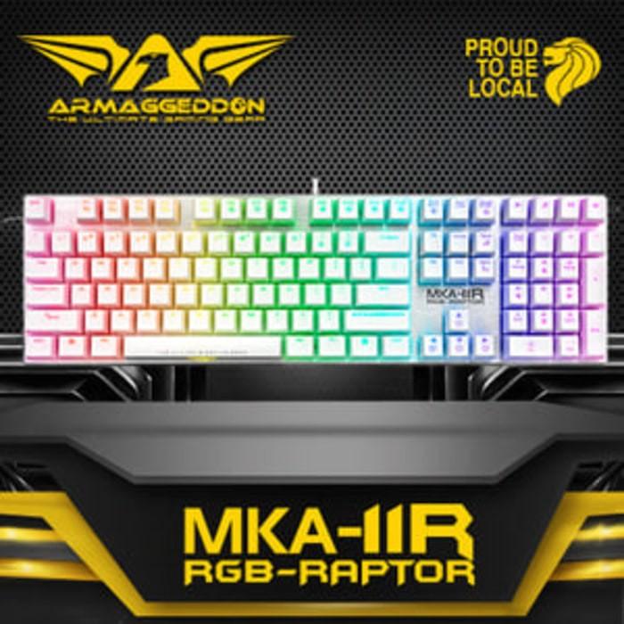 Foto Produk ARMAGEDDON Raptor RGB MKA-11R Gaming keyboard White dari sagacomputer