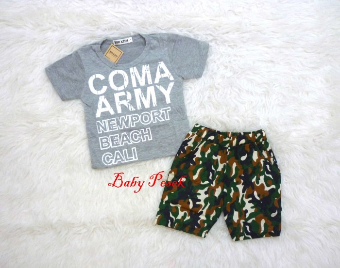 Setelan Baju Coma Army Anak Bayi Laki Laki 3 bln 2 5 th .