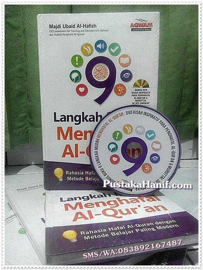 (Dijamin) Buku 9 Langkah Mudah Menghafal Al Quran + Bonus DVD - AQWAM