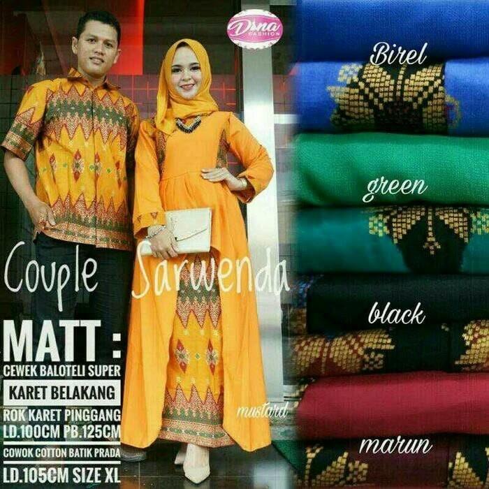 Harga Batik Gamis Couple Kebaya Sarimbit Balotelli Sarwenda Anjani Prada Harga Rp 238.000