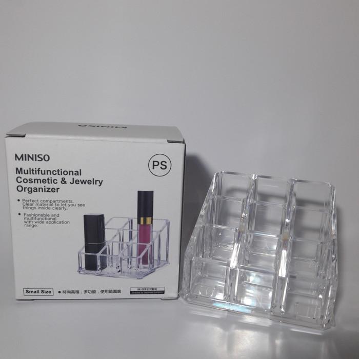 Acrylic Cosmetic Organizer - Rak Lipstick Akrilik MINISO