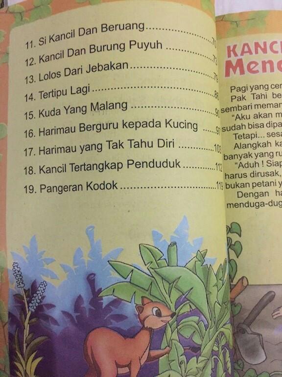 Jual Buku Anak Dongeng Fabel Kumpulan Dongeng Si Kancil Toko