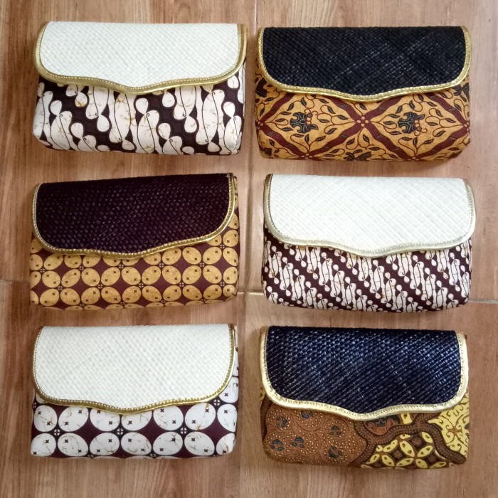 harga Dompet pandan batik murah / dompet pesta / souvenir Tokopedia.com