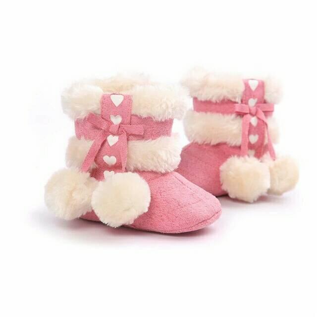 Perempuan Dan Source · harga Sepatu prewalker bayi import boot boots pink love .