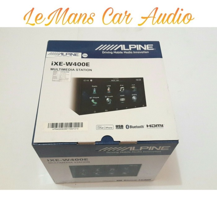 HEAD UNIT ALPINE IXE-W400E HEAD UNIT MOBIL by LEMANS CAR AUDIO