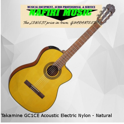 harga Takamine gc1ce acoustic electric nylon - natural Tokopedia.com