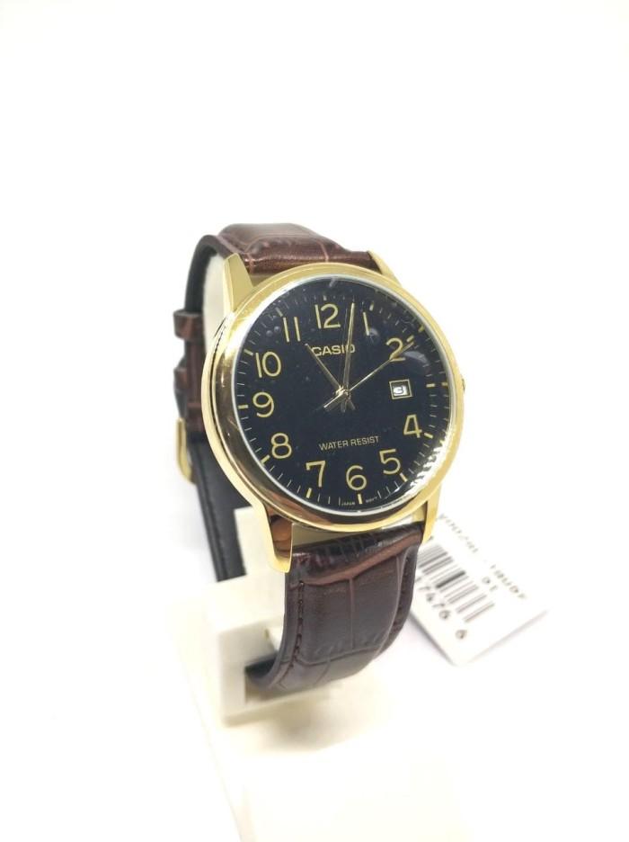 harga Casio analog jam tangan pria kulit cokelat mtp-v002gl-1b original Tokopedia.com