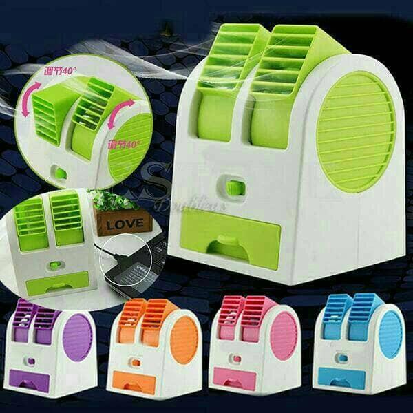 harga Ac Mini Portable Double Cooler Fan / Kipas Angin Aromaterapi Parfum Tokopedia.com