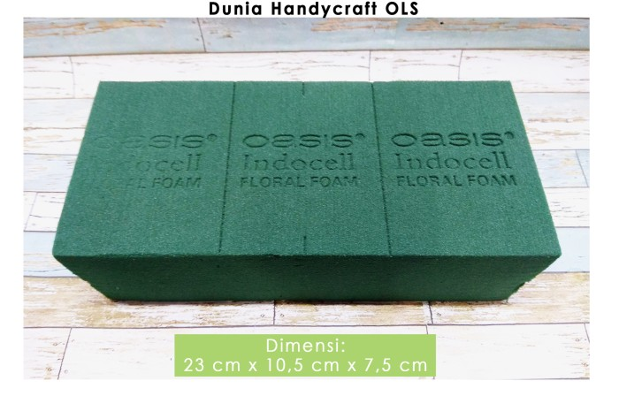 Jual Floral Foam Basah   Busa Hijau Basah   Gabus Bunga Hidup ... 22823b2901
