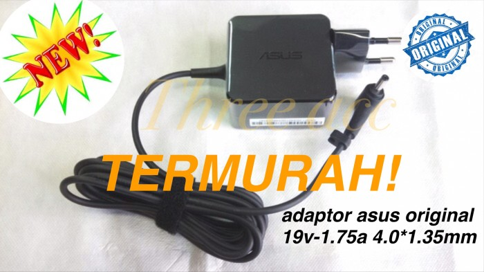 Foto Produk Adaptor Charger Laptop Asus Vivobook X200MA, X200M 19V 1.75A Original dari Three Acc